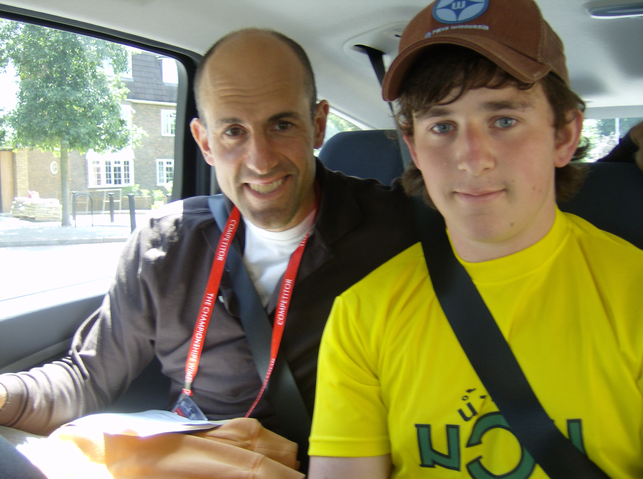 Jim and I on the way to Wimbledon in 2008 (28/6).